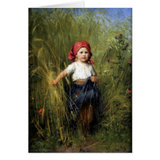 Greetingcard With Heinrich Hirt Painting Card