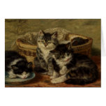 Greetingcard With Henriette Ronner-Knip Painting Greeting Card