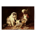 Greetingcard With Henriette Ronner-Knip Painting Cards