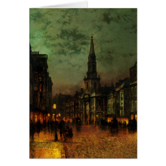 Greetingcard With John Atkins Grimshaw Painting Greeting Card