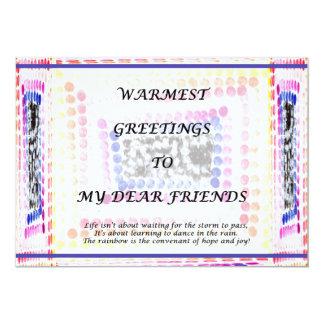 Greetings 13 Cm X 18 Cm Invitation Card