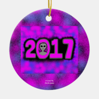Greetings 2017 Circle Ornament