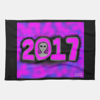 Greetings 2017 Kitchen Towel