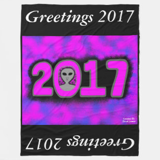 Greetings 2017 Large Fleece Blanket