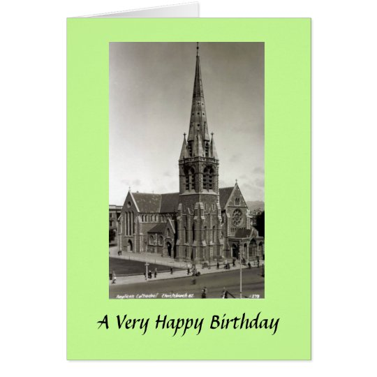 Greetings Card - Anglican Cathedral, Christchurch,