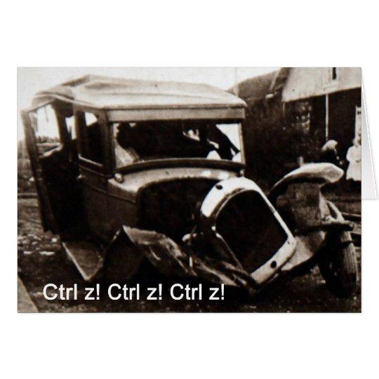 Greetings card car crash humor