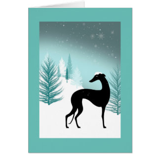 Greetings card Greyhounds