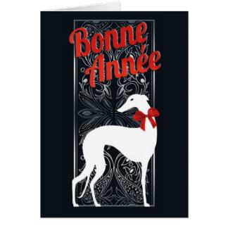Greetings card Greyhounds