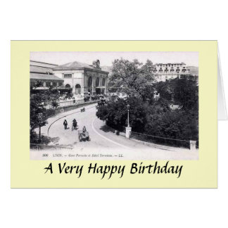 Greetings Card - Lyon, France (Gare Perrache)