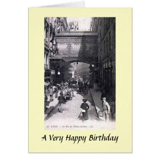 Greetings Card - Lyon, France (Rue du Palais-Grill