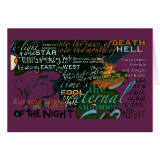Greetings Card Shakespeare Quotes Love Purple