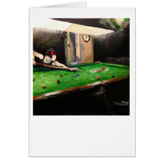 "Greetings Card - ""The Billiard Room"" Burgh Island"