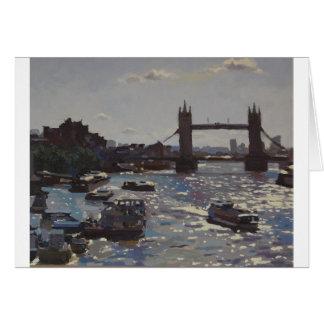 Greetings Card - Towards Tower Bridge