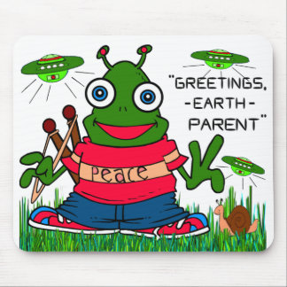GREETINGS EARTH PARENT MOUSE PAD