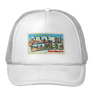 Greetings From Alamogordo, NM Letter Postcard Trucker Hat