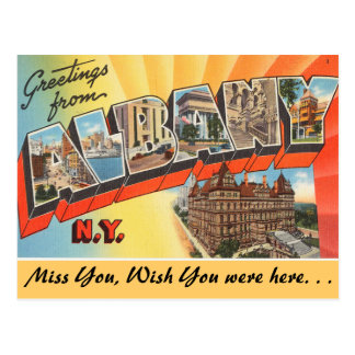 Greetings from Albany Postcard