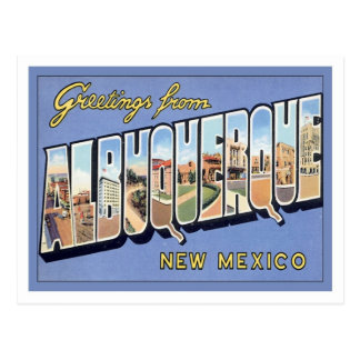 Greetings From Albuquerque, New Mexico Postcard