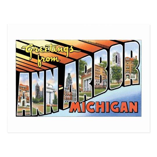 Greetings from Ann Arbor, Michigan! Postcard