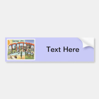 Greetings From Arizona Bumper Sticker
