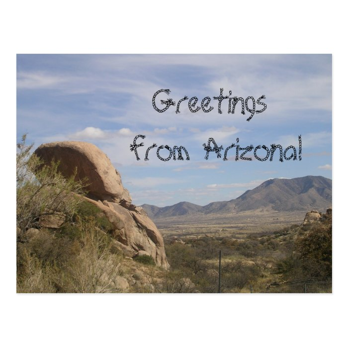 Greetings from Arizona!-Mountains Postcard