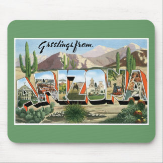 Greetings from Arizona! Retro Catcus Desert Mouse Mat