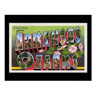 Greetings from Arkansas Ozarks Postcard