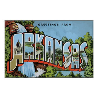 Greetings From Arkansas, Vintage Poster