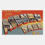 Greetings from Asbury Park Rectangular Sticker