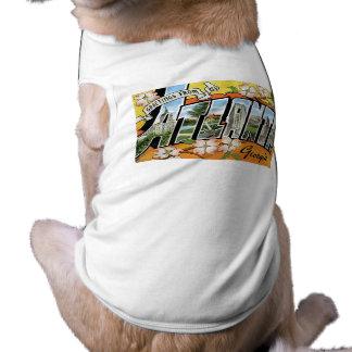 Greetings from Atlanta, GA! Sleeveless Dog Shirt