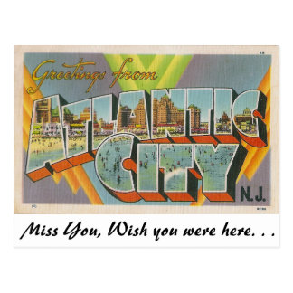 Greetings from Atlantic City, New Jersey Post Cards