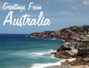 Greetings from australia postcards zazzle uk greetings from australia postcard m4hsunfo
