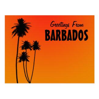 Greetings From Barbados postcard