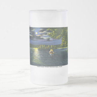 Greetings from Barnesville, Minnesota - Moonlight Frosted Glass Mug