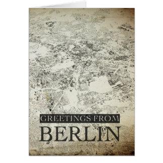 Greetings From Berlin Vintage Design Greeting Card