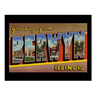 Greetings from Berwyn Illinois Postcard
