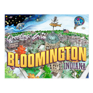 Greetings from Bloomington Indiana (postcard)
