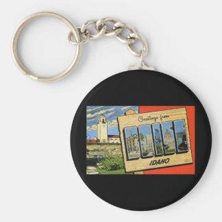 Greetings from Boise Idaho Basic Round Button Key Ring