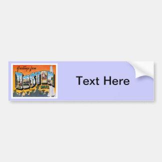 Greetings From Boston Massachusetts Bumper Sticker