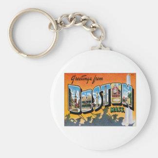 Greetings From Boston Massachusetts Key Ring