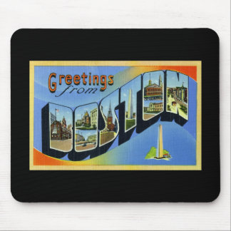 Greetings from Boston Massachusetts Mouse Pad