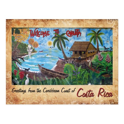 Greetings from Cahuita, Costa Rica Post Card
