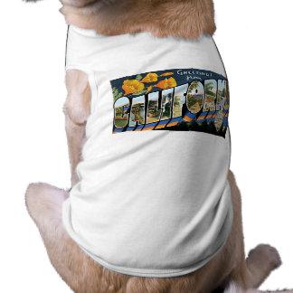 Greetings from California! Sleeveless Dog Shirt