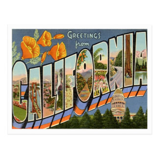 Greetings From California Post Cards