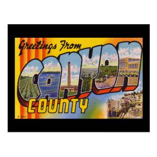 Greetings from Canyon County Idaho Postcard