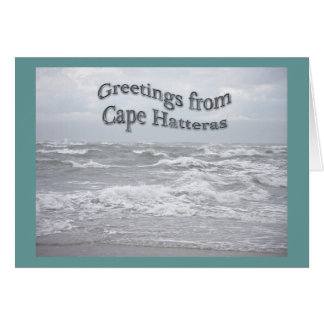Greetings From Cape Hatteras Greeting Card
