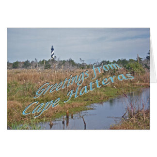 Greetings from Cape Hatteras OBX Greeting Card