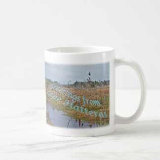 Greetings from Cape Hatteras OBX Basic White Mug