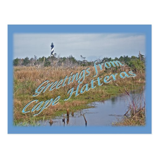 Greetings from Cape Hatteras OBX Postcards