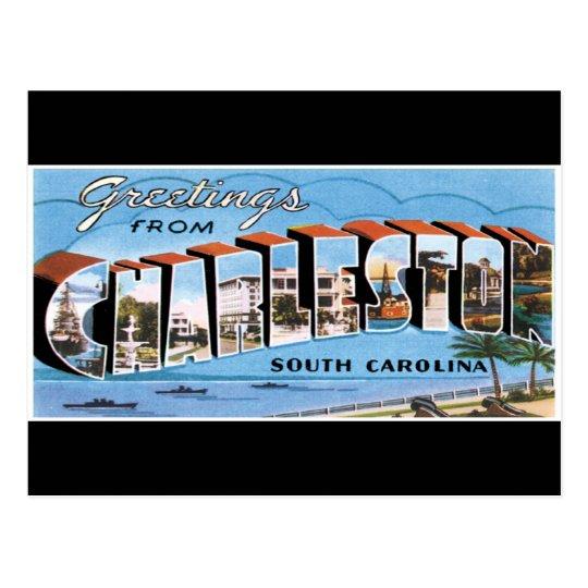 Greetings from Charleston Postcard