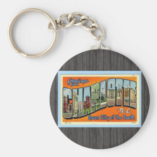 Greetings From Charlotte N.C. , Vintage Key Ring
